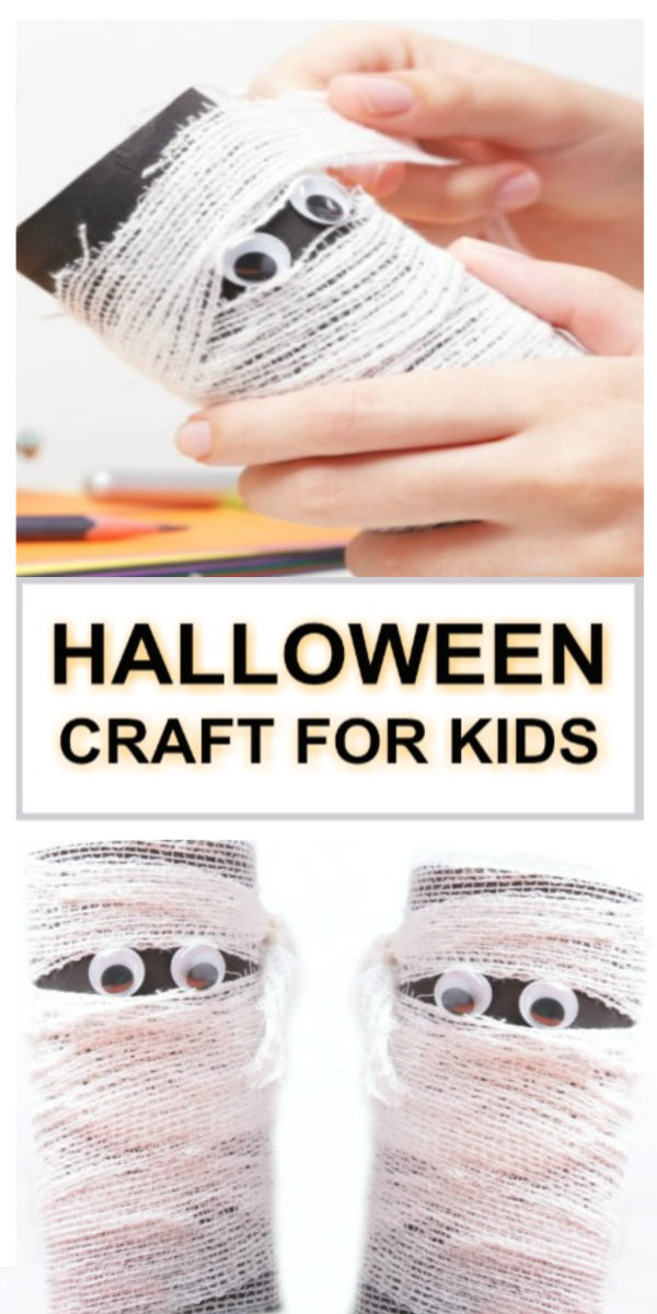 Here is a fun kids craft for Halloween.  Turn cardboard tubes into mummies! #mummycraft #mummycraftsforkids #mummycraftpreschool #mummyartforkids #mummyactivities #cardboardcrafts #cardboardtubecrafts #halloweencrafts #halloweencraftsforkids #growingajeweledrose #activitiesforkids