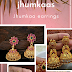 Golden colorful jhumkaas