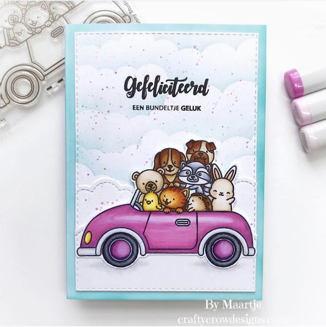 Sunny Studio Stamps: Cruising Critters Customer Card by Maartje Kraaijenhagen