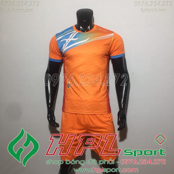 Áo bóng đá ko logo Zavikia HAT TA Màu Cam