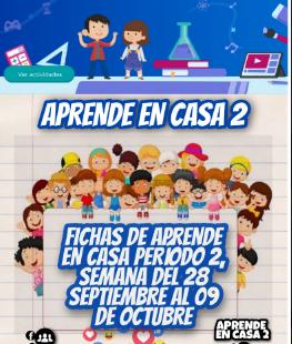 """FICHAS """"APRENDE EN CASA"""" (28 Septiembre al 09 Octubre) 1º, 2º, 3º, 4º, 5º Y 6º GRADO PRIMARIA"""