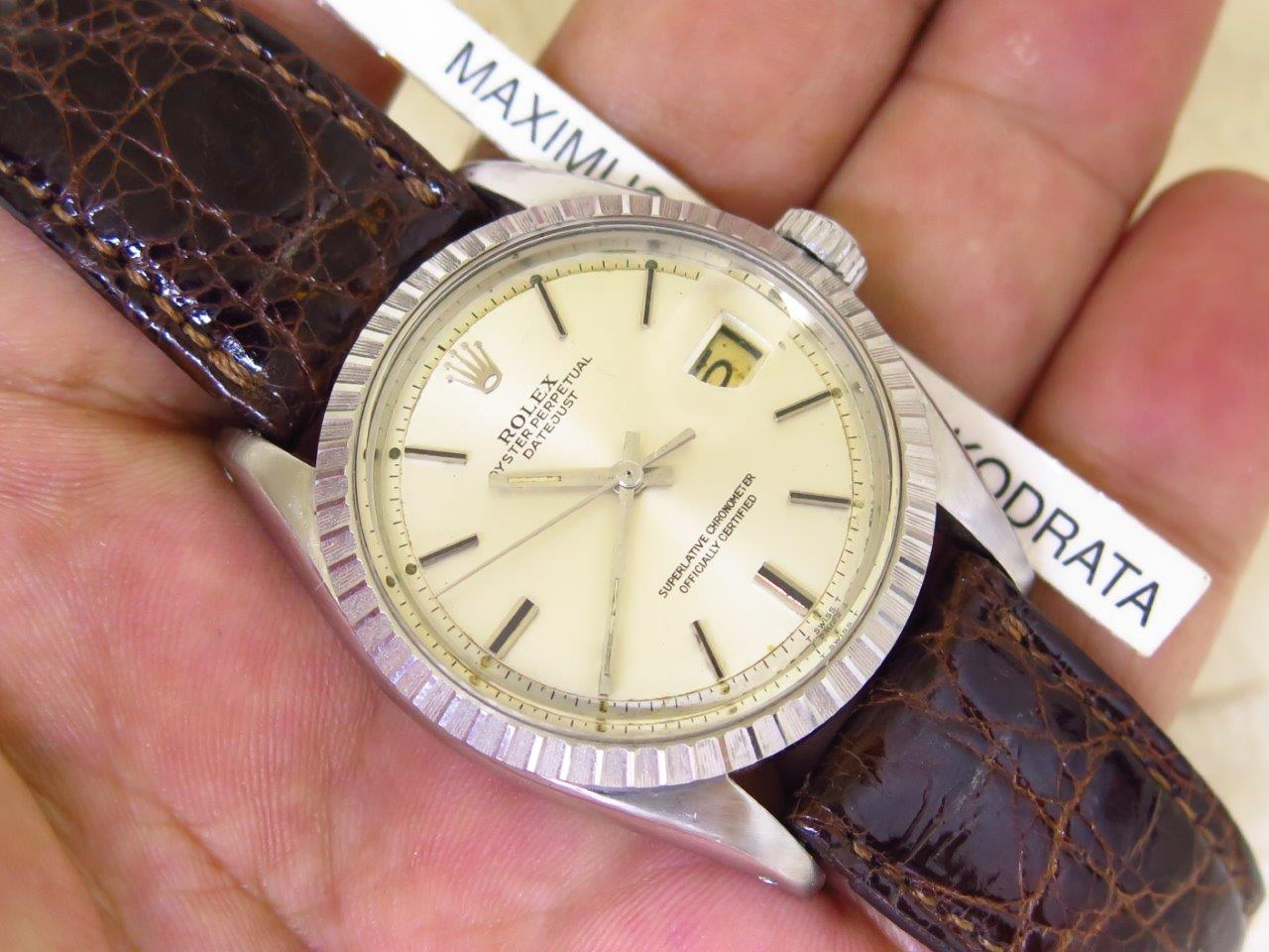 ROLEX OYSTER PERPETUAL DATE JUST SILVER DIAL - ROLEX 1603