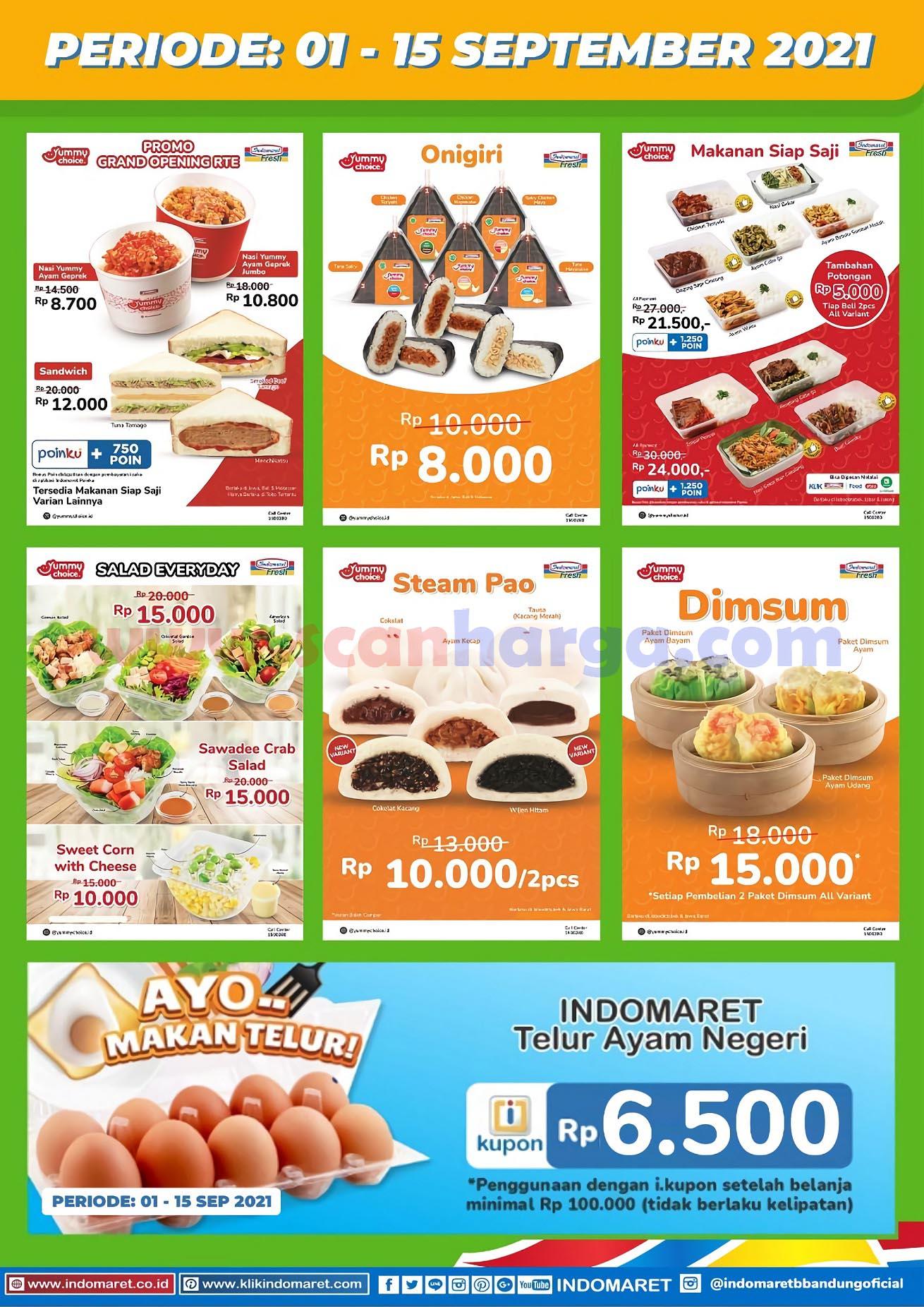 Promo Yummy Choice Indomaret Periode 1 - 15 September 2021
