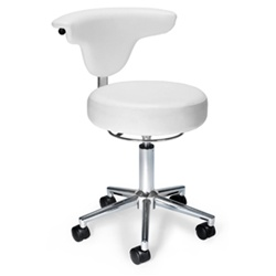 White Vinyl Office Chair