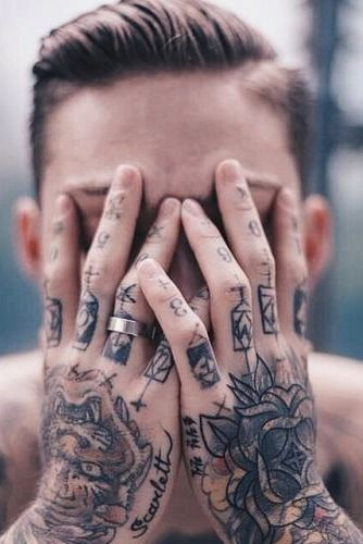 Finger Tattoo for Men
