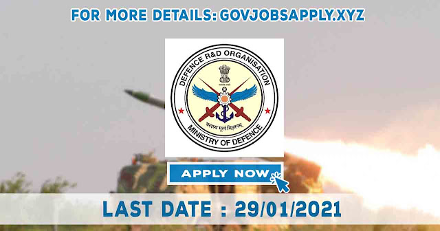 DRDO-Gas Turbine Research Establishment Job Recruitment Notification Details 2021 | Total Vacancy 150 | Last Date 29th January 2021
