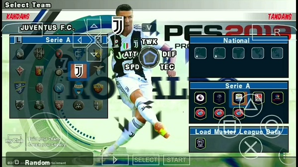 PES 2019 PPSSPP Mod Kamera Jauh PS4