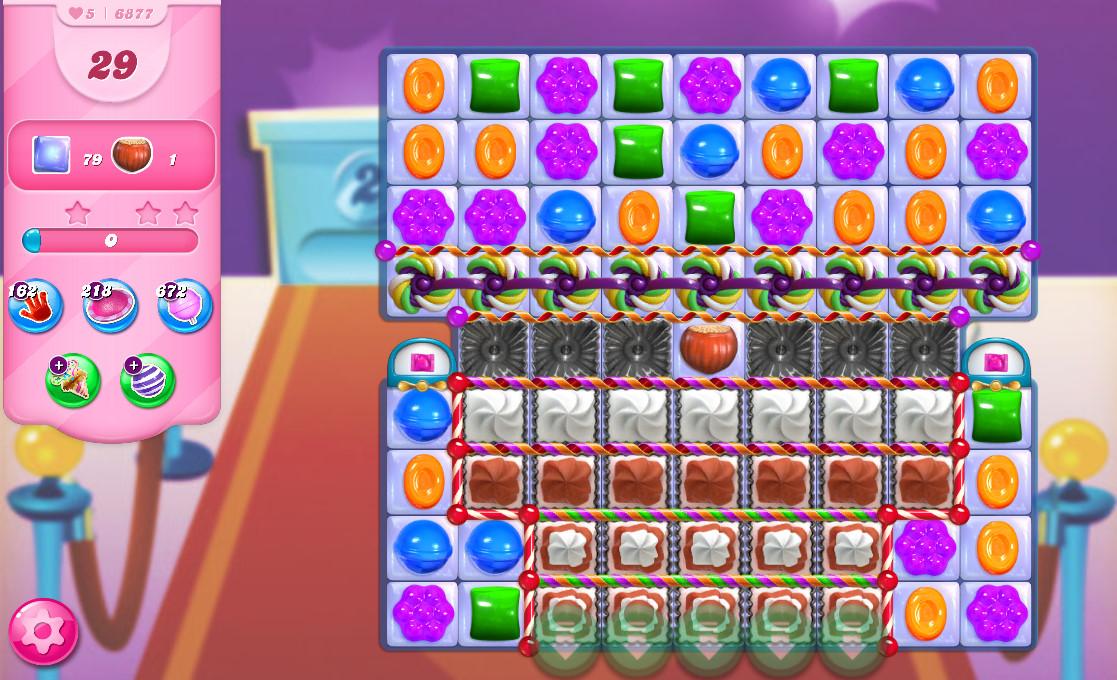 Candy Crush Saga level 6877