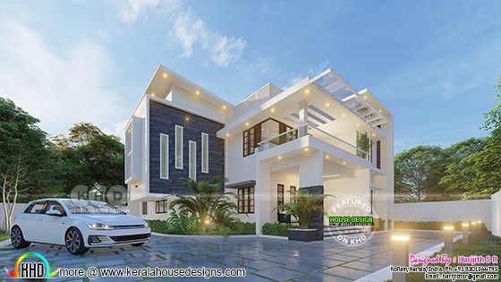 Awesome contemporary style house rendering