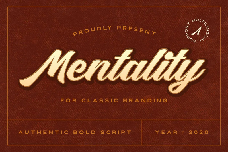 Mentality Font - Free Classic Script Typeface