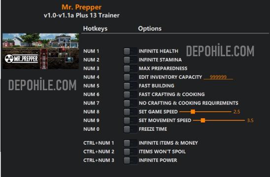Mr. Prepper PC Oyunu Can, Hızlı İnşaat +13 Trainer Hilesi İndir