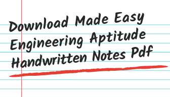 Made easy general studies and engineering aptitude handwritten notes pdf