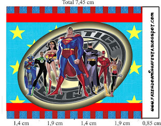 Justice League, Free Printable Labels.