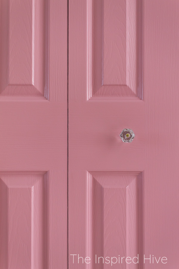 Pink closet doors in SW Pressed Flower
