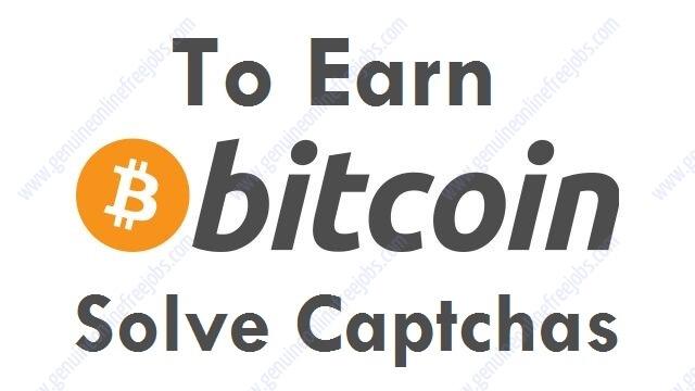 guadagnare bitcoin captcha solving