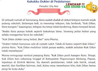 Kunci Jawaban Tematik Kelas 4 Tema 6 Kakakku Dokter di Pedalaman www.simplenews.me