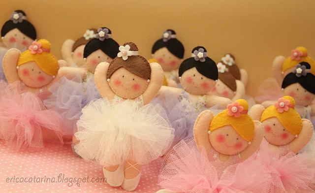 Шаблоны балеринок - толстушек из фетра (5)