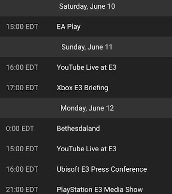 e3 2017 schedule ps4 xbox nintendo bethesda gamingtox