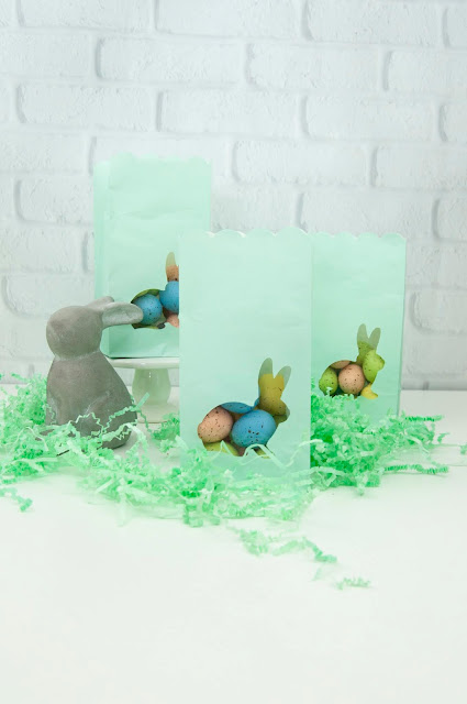 Die cut Easter bunny treat bags tutorial. #diecutting #jengallacher #echoparkpaper #easter #diycraft