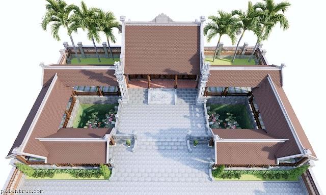 Mô hình nhà gỗ kiểu trường lang