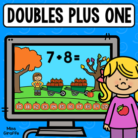 Adding doubles plus one activities