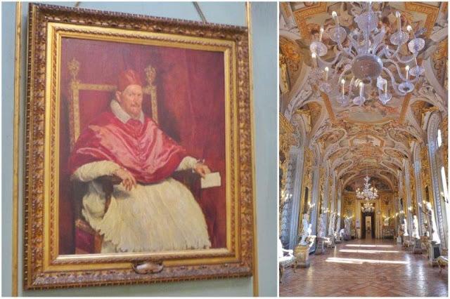 Retrato de Inocencio X de Velazquez – Sala suntuosamente decorada en el Palazzo Doria Pamphilj en Roma