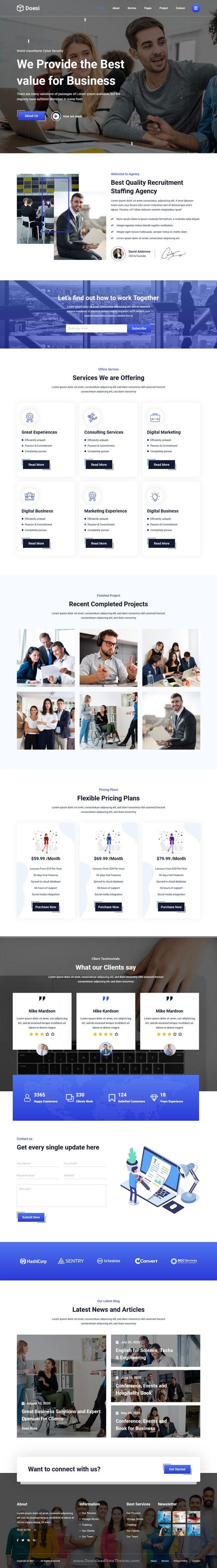 Business React Template