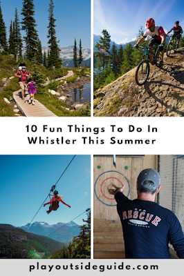 10 fun things to do in Whistler this summer pinterest pin