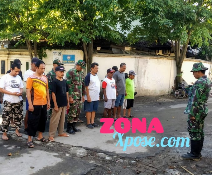 Kepedulian Babinsa Terhadap Kebersihan Di Lingkungan Wilayah Binaannya