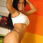 Andrea Rincon – Selena Spice – Sexy Top Blanco y Tanga Negra Foto 137