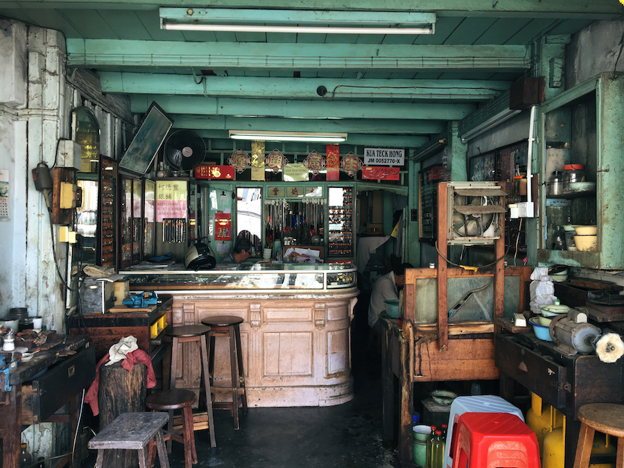 Interior of an old store in Malacca Malaysia
