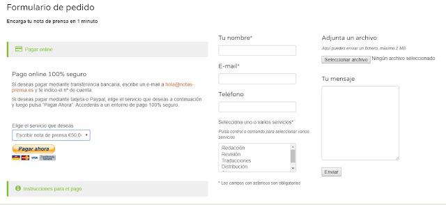 Ejemplo botón de pago de PayPal en notas-prensa_Es