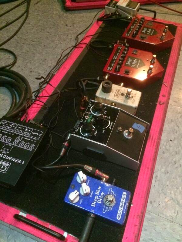 Albert Hammond Jr. Pedalboard 2014