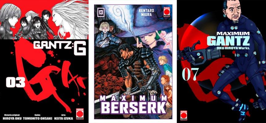 Novedades Panini Comics (seinen): Gantz G, Berserk y Gantz