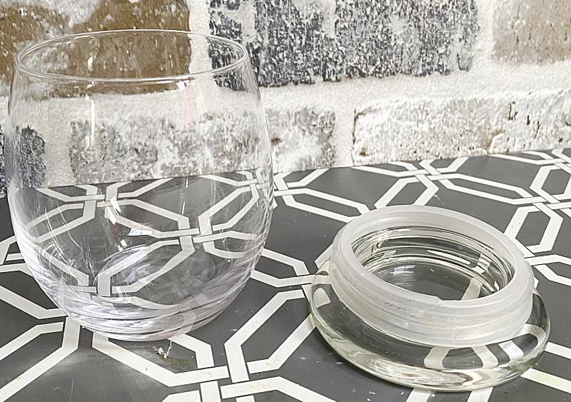 DIY Wine Glass Cloche