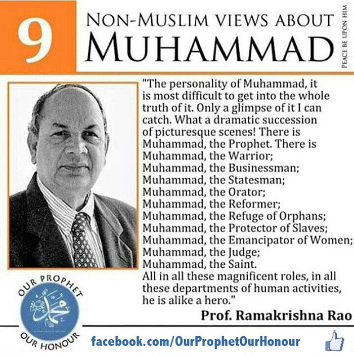 Prof. Ramakrishna Rao views about Prophet Muhammad (PBUH) by Ummat-e-Nabi.com