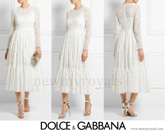 Kate Middleton wore Dolce & Gabbana Cotton-Blend Lace Dress