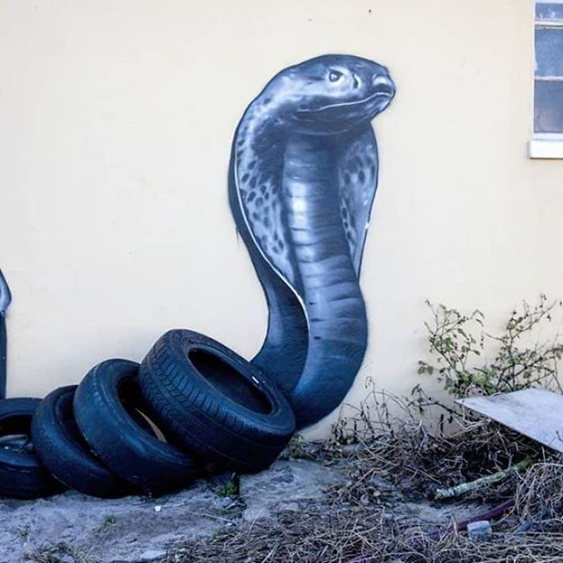 16 Gorgeous graffiti that blends perfectly with the surroundings