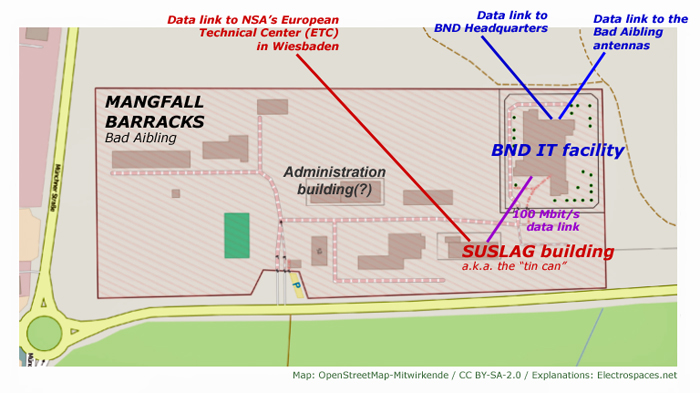 Electrospaces Net Secret Report Reveals German Bnd Also - Bad Aibling Nsa