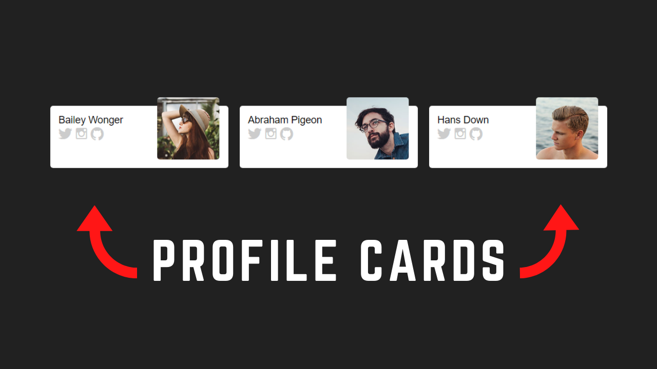 Amazing Profile Cards Design Using HTML and CSS