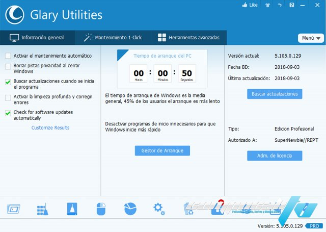 Glary Utilities PRO 5.105 Final Español