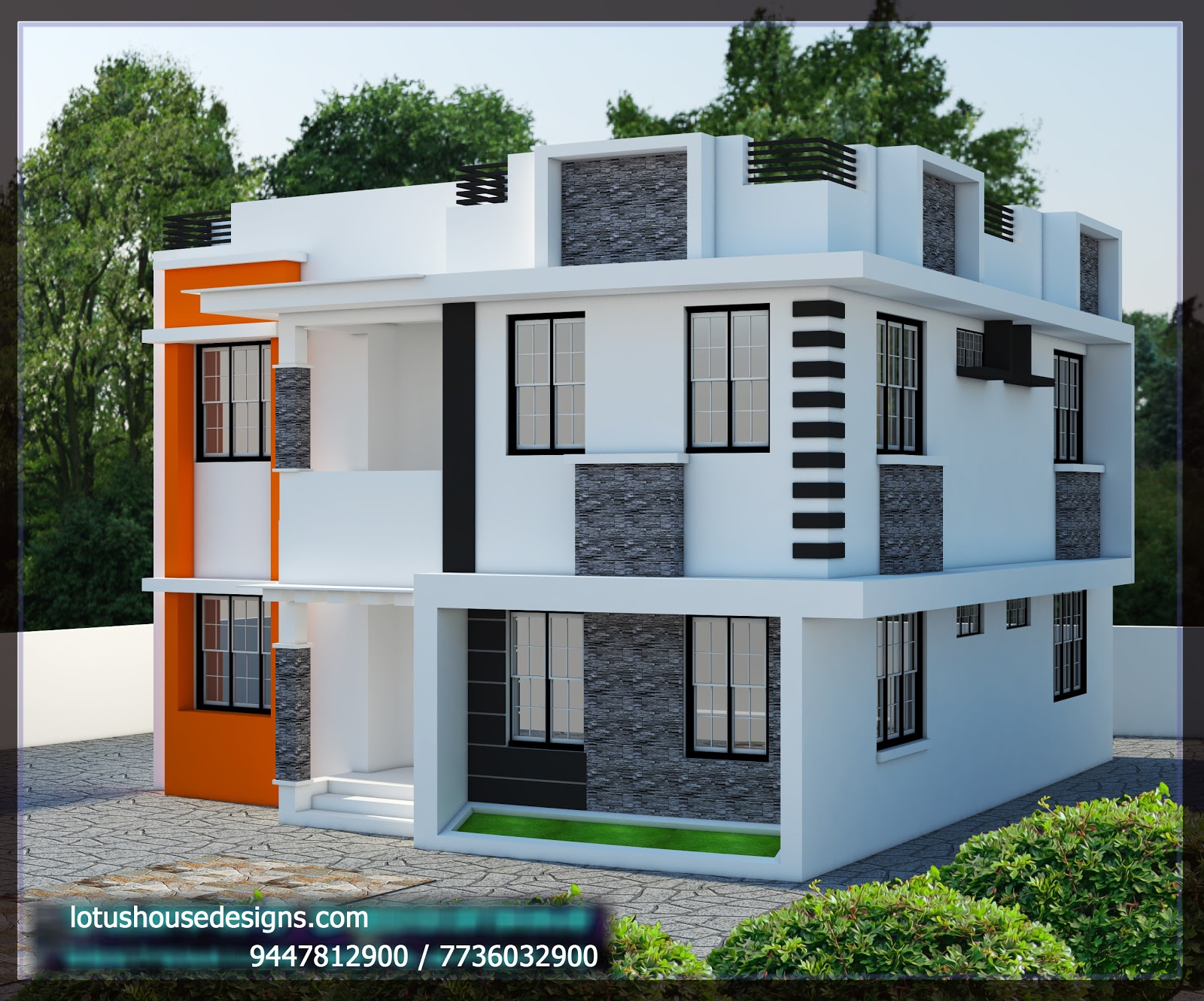Style home design of 2127 sqft which can be finished in less than 43 lakhs rs specifications ground floor 1200 sq ft sitout