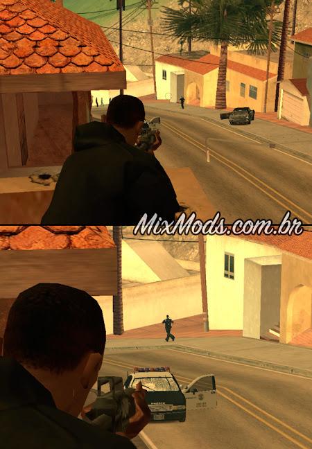gta sa mod zoom any weapon todas armas dar zoom