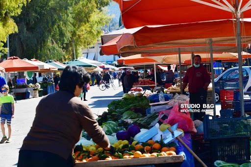 Η λίστα με τους παραγωγούς που θα στήσουν πάγκο στη λαϊκή αγορά του Ναυπλίου την Τετάρτη 2/12