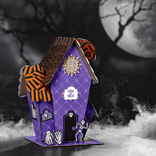 Stampin' Up! Paper Pumpkin September 2019 Bone Appetit Haunted House + PDF Instructions