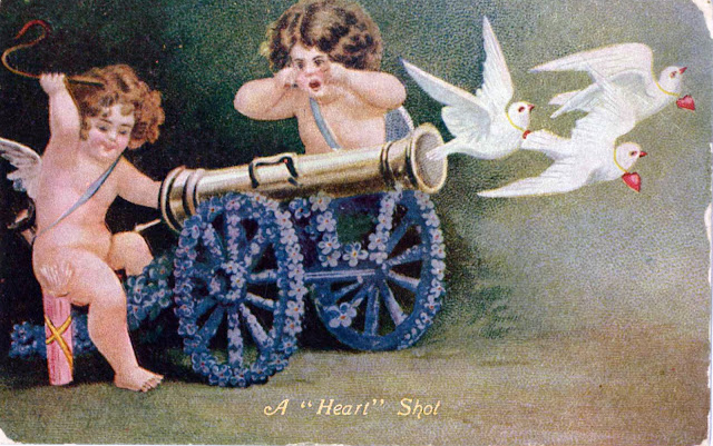 White Doves, Pretty Ladies and Mischievous Cupids: Valentine's Day Postcards