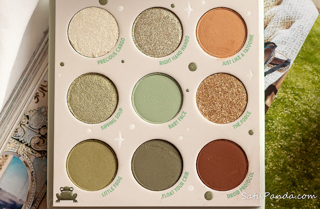 Colourpop Mandalorian The Child Palette — отзыв, свотчи, макияжи