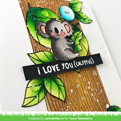 I Like You More Than Naps Card by Samantha Mann - Lawn Fawnatics, Lawn Fawn, Koala, Distress Inks, Cards, Handmade Cards, Card Making, #lawnfawn #lawn
