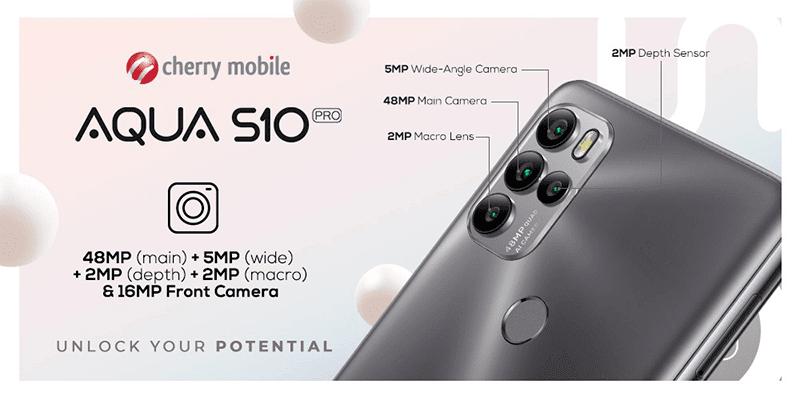Camera specs of Aqua S10 Pro