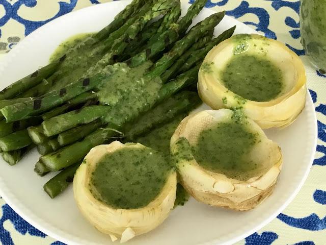 asparagus with cilantro dressing